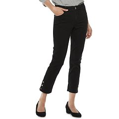 Women's Dana Buchman Button-Hem Ankle Jeans