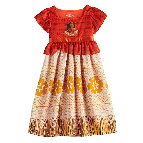 Disney's Moana Toddler Girl Fantasy Gown Nightgown