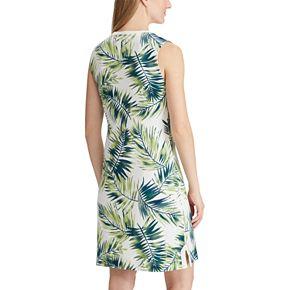 Women's Chaps Palm Leaves Sleeveless Dress