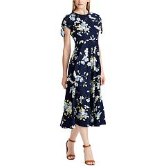 64fb3d2ad1f Women s Chaps Floral Midi Dress