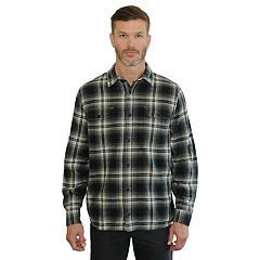 Men's Mountain and Isles Classic-Fit Plaid Flannel Button-Down Shirt