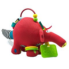 Dolce Plush Small Aardvark Activity Velour Plush Toy