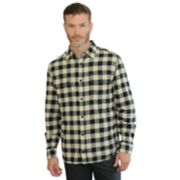 Men's Mountain and Isles Classic-Fit Plaid Twill Flannel Button-Down Shirt