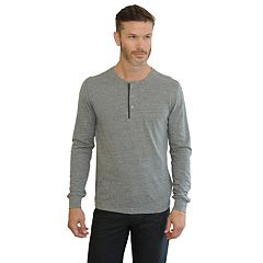 Men's Mountain and Isles Classic-Fit Slubbed Jersey Henley