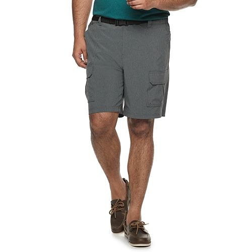 Big & Tall Croft & Barrow® Performance Belted Outdoor Shorts