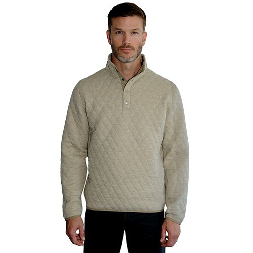 Men's Mountain and Isles Regular-Fit Quilted Snap Pullover