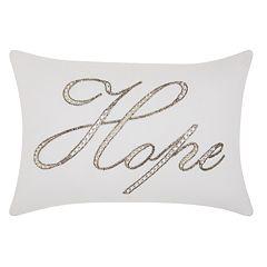 Kathy Ireland Beaded 'Hope' Throw Pillow