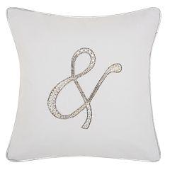 Kathy Ireland Beaded Ampersand Throw Pillow