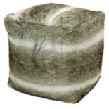 Kathy Ireland Striped Faux-Fur Pouf
