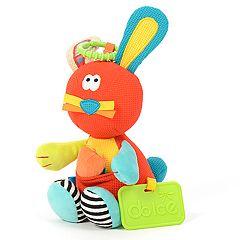Dolce Plush Spring Rabbit Activity Velour Plush Toy