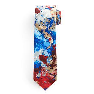 Men's Batik Bay Abstract Watercolor Tie