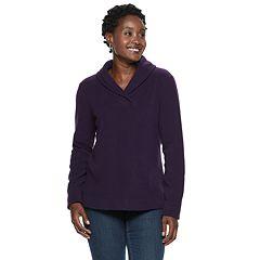 Women's Croft & Barrow® Shawl Collar Fleece Sweatshirt