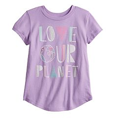 Toddler Girl Jumping Beans® 'Love Our Planet' Slubbed Graphic Tee