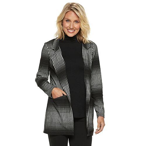 Women's Dana Buchman Striped Open-Front Jacket