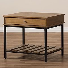 Baxton Studio Industrial End Table