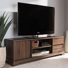 Baxton Studio Modern Walnut TV Stand