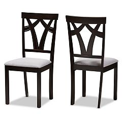Baxton Studio Modern Gray Dining Chair 2-piece Set