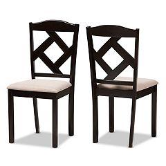 Baxton Studio Modern Beige Dining Chair 2-piece Set
