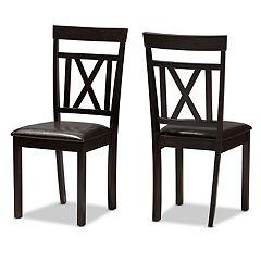 Baxton Studio Espresso Modern Dining Chair 2-piece Set