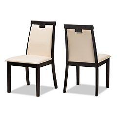 Baxton Studio Beige Modern Dining Chair 2-piece Set
