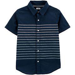 Boys 4-14 Carter's Striped Button-Front Shirt