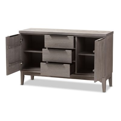 Baxton Studio Rustic Gray 3-Drawer Sideboard
