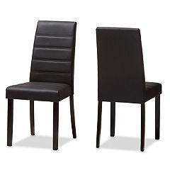 Baxton Studio Modern Espresso Dining Chair 2-piece Set