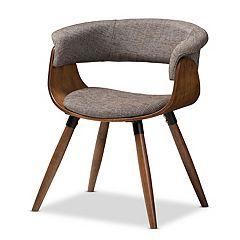 Baxton Studio Mid-Century Grey Dining Chair