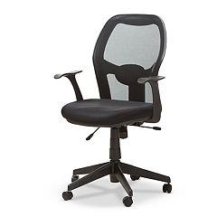 Baxton Studio Modern Ergonomic Black Office Chair