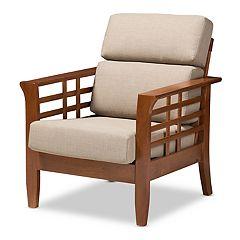 Baxton Studio Modern Beige Lounge Chair