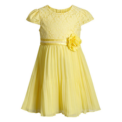 Toddler Girl Youngland Lace Pleated Chiffon Dress