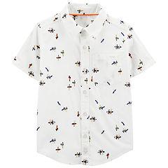 Boys 4-14 Carter's Surfer Button-Front Shirt
