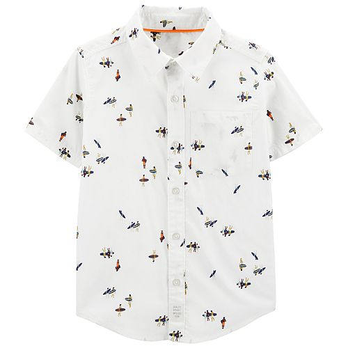Boys 4-14 Carter's Surfer Button-Front Shirt