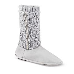 Women's isotoner Tess Trellis Sweater Knit Slippers