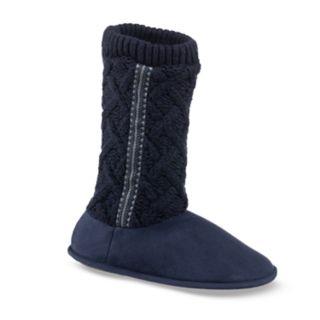Women's isotoner Tess Trellis Sweater Knit Slippers