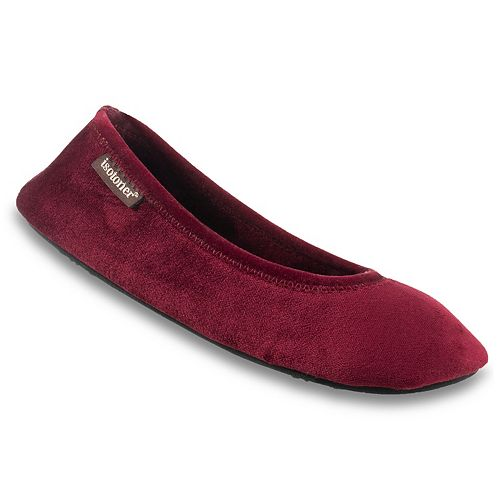 Women's isotoner Victoria Velour Stretch Ballerina Slippers