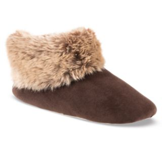 Women's isotoner Sabrine Velour Stretch Boot Slippers