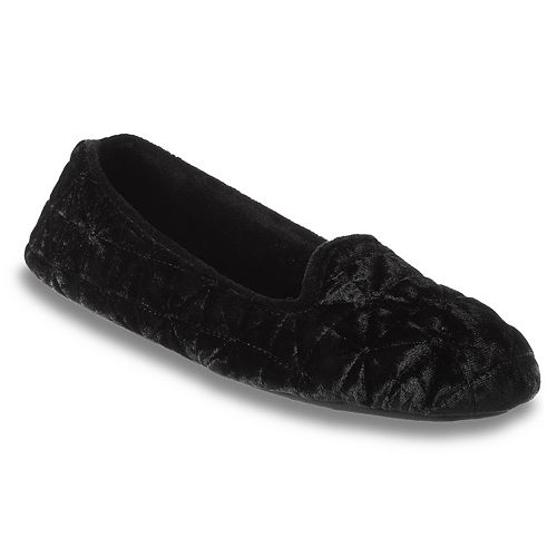 Women's isotoner Stephanie Crushed Velour Closed Back Slippers