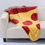 Better Living Plush Pizza Foot Pocket Throw