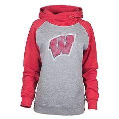 Women's Wisconsin Badgers Distressed Hoodie