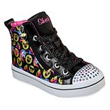 Skechers Twinkle Toes Twi-Lites Smile Style Girls' Light Up High Top Shoes