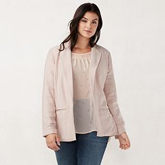 Plus Size LC Lauren Conrad Relaxed Satin Blazer