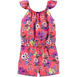 Toddler Girl OshKosh B'gosh® Flutter Sleeve Floral Romper