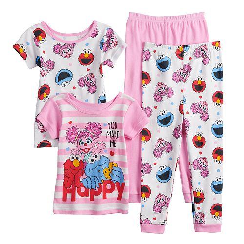 7c8c0cf0c82bd Toddler Girl Sesame Street Elmo, Cookie Monster & Abby Cadabby ...