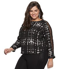 Plus Size Jennifer Lopez Lace-Trim Dolman Top