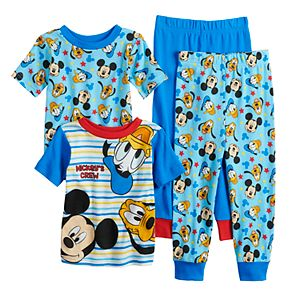 Disney s Mickey Mouse Toddler Boy 2-pack Christmas Fleece Footed Pajamas 355080819
