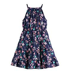 Girls 4-12 SONOMA Goods for Life™ Floral Tiered Halter Dress
