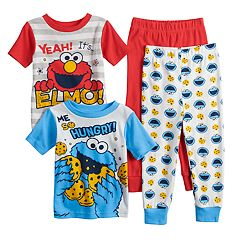 Toddler Boy Sesame Street Elmo & Cookie Monster Tops & Bottoms Pajama Set