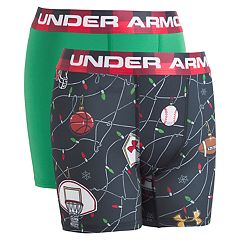 Boys 8-20 Under Armour Christmas Sport 2-Pack Boxer Briefs