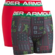 Boys 8-20 Under Armour Christmas 2-Pack Boxer Briefs